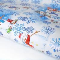 Упаковочная бумага Снеговички 70*100 - Все для мыла ручной работы - интернет-магазин Blesk-ekb.ru, Екатеринбург