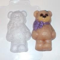 Пластиковая форма Мишка с бантом 1 шт - Все для мыла ручной работы - интернет-магазин Blesk-ekb.ru, Екатеринбург