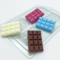 Пластиковая форма Плитка шоколада мини 1 шт - Все для мыла ручной работы - интернет-магазин Blesk-ekb.ru, Екатеринбург