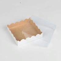 Коробочка  белая / крафт, 12 х 12 х 3 см 1 шт - Все для мыла ручной работы - интернет-магазин Blesk-ekb.ru, Екатеринбург