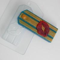 Форма пластиковая Погон поцелуй 1 шт - Все для мыла ручной работы - интернет-магазин Blesk-ekb.ru, Екатеринбург