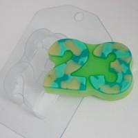 Пластиковая форма 23 февраля плоское 1 шт - Все для мыла ручной работы - интернет-магазин Blesk-ekb.ru, Екатеринбург