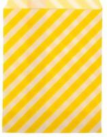 Пакет бумажный с плоским дном Полоска желтая 13*18 1 шт - Все для мыла ручной работы - интернет-магазин Blesk-ekb.ru, Екатеринбург