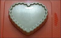 Пластиковая форма Сердце основа 1 шт  - Все для мыла ручной работы - интернет-магазин Blesk-ekb.ru, Екатеринбург