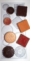 Форма пластиковая Печенье ассорти 1 шт - Все для мыла ручной работы - интернет-магазин Blesk-ekb.ru, Екатеринбург