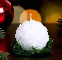 Форма для свечи Снежок 3D, 1 шт  - Все для мыла ручной работы - интернет-магазин Blesk-ekb.ru, Екатеринбург