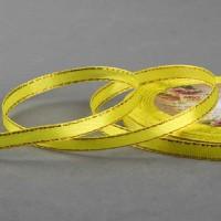 Желтая с люрексом атласная лента 1 м - Все для мыла ручной работы - интернет-магазин Blesk-ekb.ru, Екатеринбург