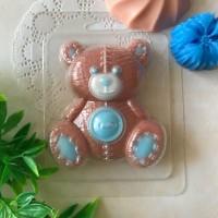 Пластиковая форма Мишка с пуговицей 1 шт - Все для мыла ручной работы - интернет-магазин Blesk-ekb.ru, Екатеринбург