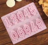 Форма для мыла, шоколада, свечей Цифры 26*21*1 1 шт  - Все для мыла ручной работы - интернет-магазин Blesk-ekb.ru, Екатеринбург